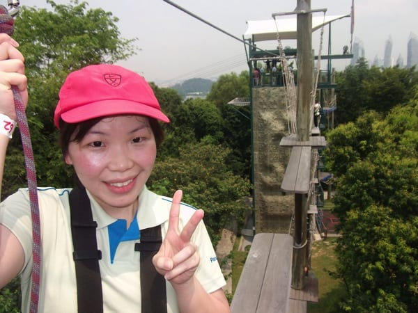 Lady highropes