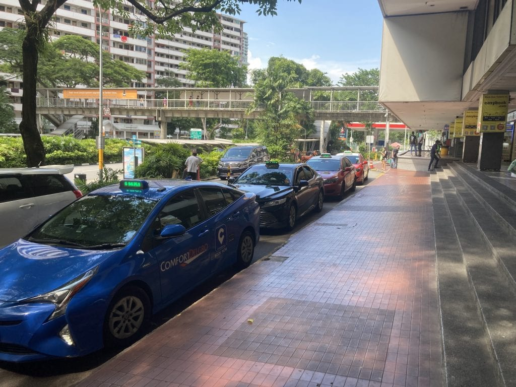 Taxi stand at Beach road